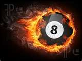 Eight Ball on Fire