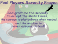 Pool Players Prayer