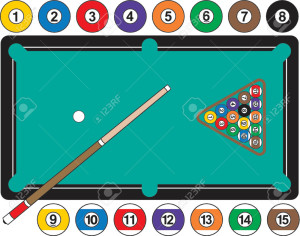 892449-A-graphic-illustration-of-a-pool-table-complete-with-billiard-balls-cue-stick-and-rack-Balls-are-ind-Stock-Vector