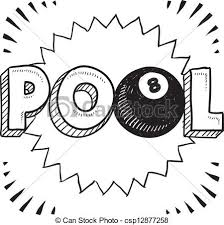 Pool - black and white