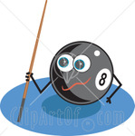 224882-Royalty-Free-RF-Clipart-Illustration-Of-An-Eightball-Character-Holding-A-Cue-Stick