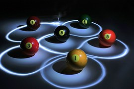 Billiard Balls in highlighted pads