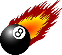 Flamin 8 Ball-red